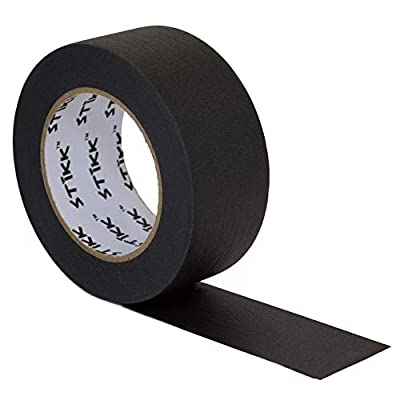 """2"""" inch x 60yd STIKK Black Painters Tape 14 Day Clean Release Trim Edge Finishing Decorative Marking Masking Tape (1.88 in 48MM)"""