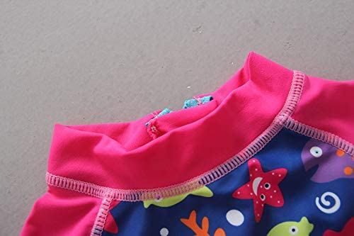 One-Piece Rashguard Swimsuit Baby-Girls Sun Protection UPF 50+