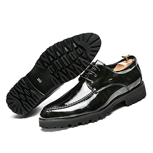 Scarpe Personality Formali British da Respira Casual Vernice Scarpe in Business Oxford Cricket Pinnacle Fashion Men's Nero zO7YqIW