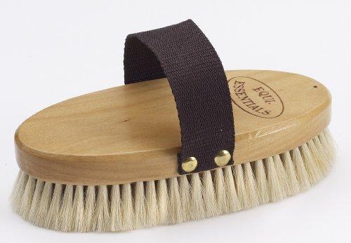Goat Hair Body Brush - Equi-Essentials Wood Backed Goat Hair Body Brush
