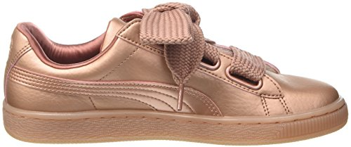 Mujer Zapatillas Rosa Copper Heart Rose para Copper Puma Basket XOFqTT