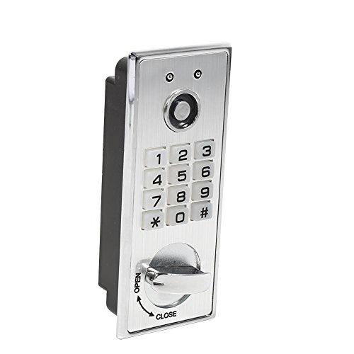 Fdit Digital Keypad Password Keyless Lock with Backup Keys Electronic Security Cabinet Coded Locker Key Access for Door Cabinet by Fdit