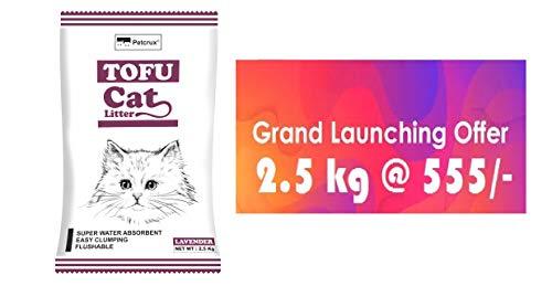 Petcrux Exclusive Organic Tofu Cat Litter 6 L = 2.5 Kg (Lavender, 2.5kg)