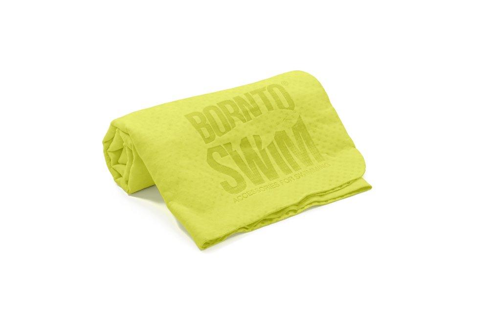 Bor NTO Swim assorbente asciugamano Extra trocken Chamois, Unisex, Saugfähiges Handtuch extratrocken, verde, M BORQE|#BornToSwim ABT-DE-U-E