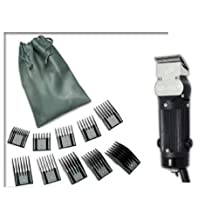 Oster Model 10 Classic Professional Barber Salon Pro Hair Grooming Clipper with 10 piece Comb Guide Set.