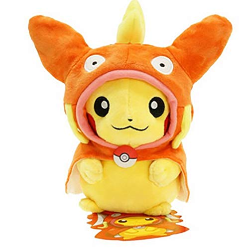 PAPWELL Baby Pikachu Plush 7 Options Pokemon Pikachu Cosplay Anime Character Movie Medium Size 9 inch/ 23cm Yellow Stuffed Animal Soft Cotton Toy Birthday Christmas Collection Gift f (3) -