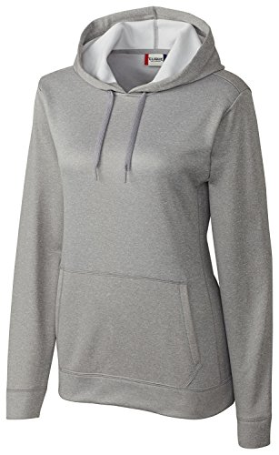 Clique Women's Comfortable Ribbed Pullover Hoodie_XX-Large_Athletic Grey (Athletic Ribbed Pullover)
