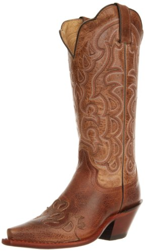 """Justin Boots Women's Vintage Fashion 13"""" Boot Narrow Square Toe Vintage Rubber Outsole,Mocha Damiana/Taupe Damiana/Taupe Damiana Wingtip,9.5 B US"""