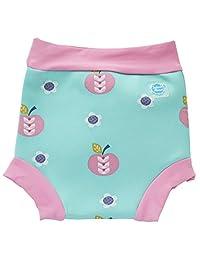 Splash About Baby Neoprene Swim Diaper - Reusable Swim (XX Large Toddler 24+ Months, Apple Daisy)
