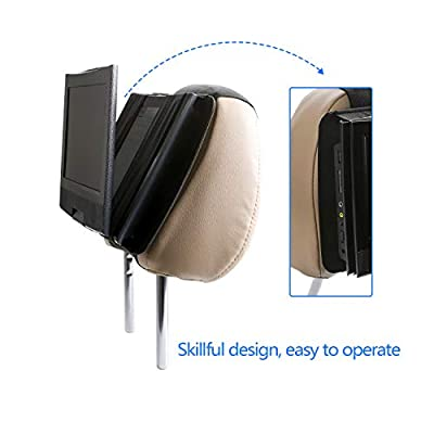 Hikig Car headrest Mount for 7 to 11 inch Swivel & Flip Style Portable DVD Player - Black: Automotive