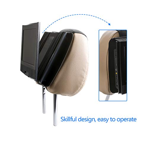 Hikig Car headrest Mount for 7 to 11 inch Swivel & Flip Style Portable DVD Player - Black by Hikig (Image #3)