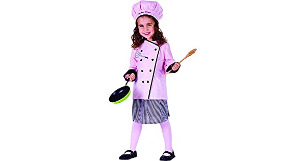 Amazon.com: Little Pretty Master niña disfraz de Chef por ...