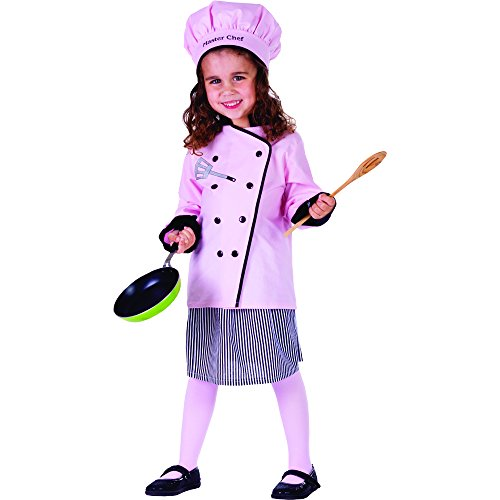 [Master Girl Chef Costume - Size Medium 8-10] (Childrens Food Halloween Costumes)