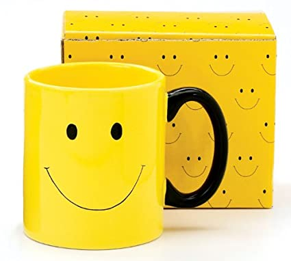 Amazon Smiley Happy Face Mug Coffee Cup Great Gift Item
