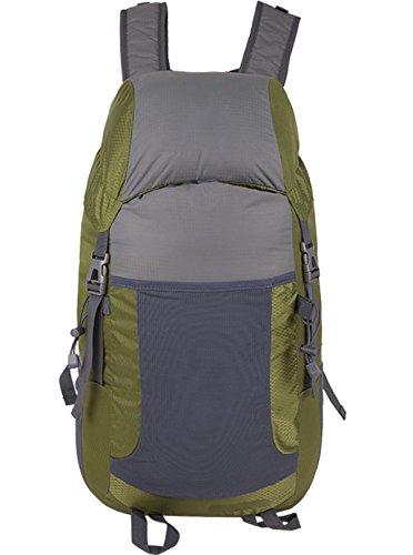 Alpinismo Al Aire Libre Mochila De Viaje 35L,Lightgray darkgreen