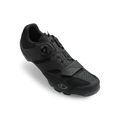 Black Mens Bike Shoes - Giro Cylinder Cycling Shoes - Men's Black 43