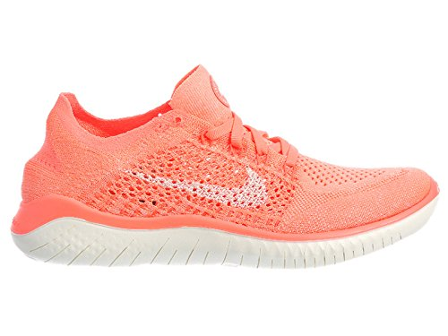 de17d1244650 Galleon - NIKE Women s Free RN Flyknit 2018 Crimson Pulse Sail Hyper Crimson Black  Nylon Running Shoes 11 (B) M US