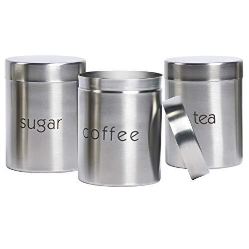 Basic Essentials - Stainless Steel 3 Piece Coffee, Tea, Sugar Set ()