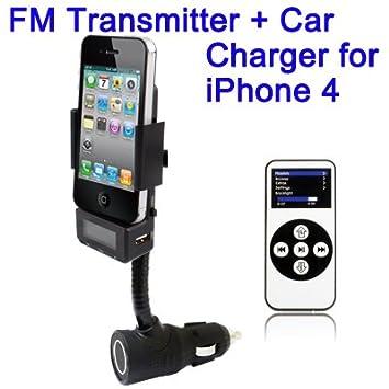 FM Transmitter Cargador de baterías coche soporte para ...