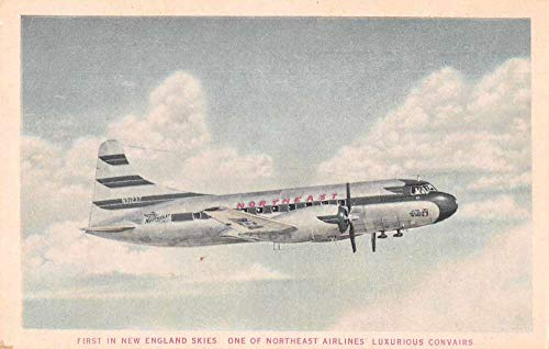 Northeast Airlines New England Airplane Advertising Vintage Postcard AA56