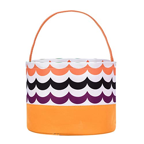 ERANLEE Easter Egg Hunt Basket Reusable Storage Tote Bag Carrying Gifts Eggs for Easter Childs Easter Bucket for Kids Party Gift Bags]()