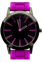 New Geneva Purple w/ Black Silicone Watch
