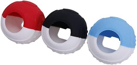 CHINFAI - Funda de silicona para mando Pokeball Plus, funda protectora con palillos para Nintendo Switch Pokemon Lets Go Pikachu Eevee Games (3 unidades): Amazon.es: Videojuegos