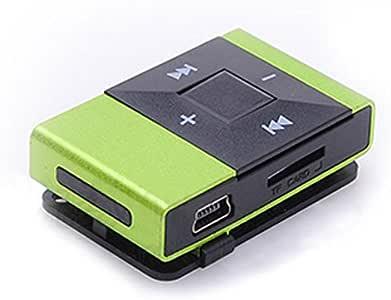 Zmond -HiFi Portable Mirror Mini USB Digital Mp3 Music Player Support 16GB SD TF Card Fashion[ Green ]