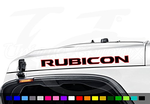 Jeep Wrangler Rubicon 2 color Vinyl Hood Decal Emblem 1 ()