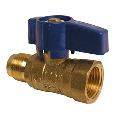 LASCO 10-1613 Straight Gas Ball Valve with 1/2-Inch Flare and 1/2-Inch Female Pipe Inlet, Brass from LASCO
