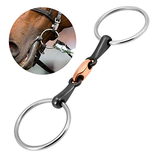 - SODIAL Horse Racing Mouth Bit Steel Horse Mouth Bit Horse Mouth Piece Copper Link Bit 125Mm