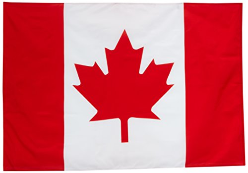- Quality Standard Flags Canada Polyester Flag, 4 by 6'