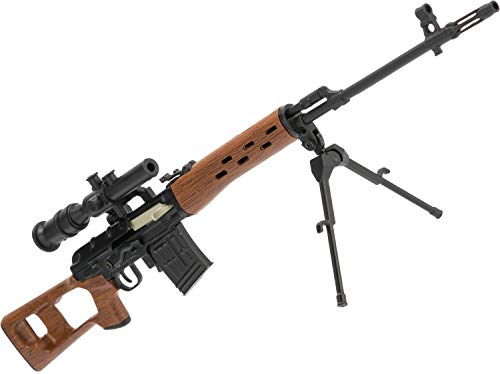 Evike Die-Cast Metal and Polymer 1:6 Scale Miniature Model Gun (Type: SVD - Army Sniper Rifle