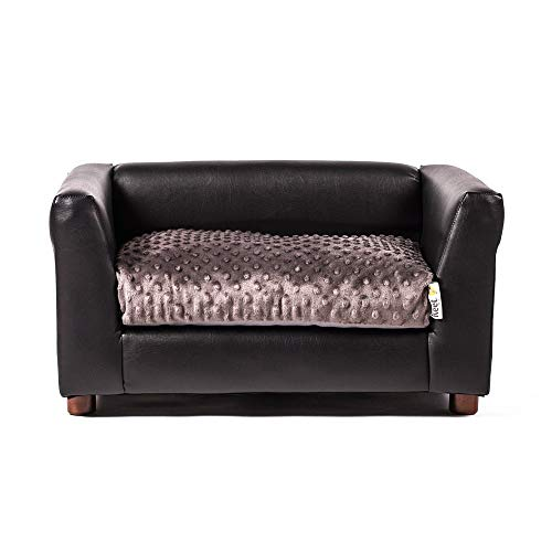 - Keet Fluffly Deluxe Pet Bed, Sofa Charcoal, Small
