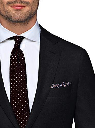 82c3a7e2d6764b LN LUCIANO NATAZZI Italian Men's Suit 180'S Wool Cashmere Ticket Pocket  Jacket