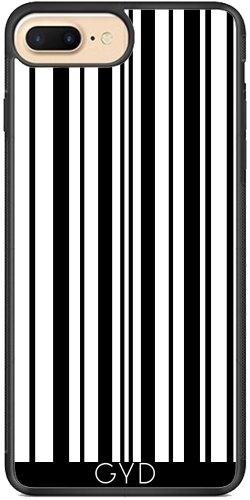 Coque Silicone pour Iphone 7 Plus / 8 Plus - Lignes 7 - Noir Et Blanc by BruceStanfieldArtist