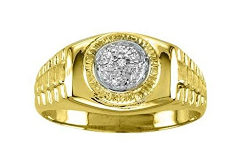 Diamond Designer Lucky Pinky Ring set in 14K Yellow Gold Plated - Shop Usa Tiffany Online