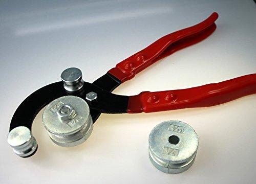 Rohrbiegezange | Rohrbiegegerä t | 4-Loch Zange 4-6-8-10 mm | Rohrbieger | Biegezange fü r Bremsleitungen und andere Rohre MARAPON