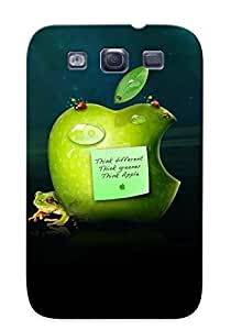 Ellent Design Apple Think Different Phone Case For Galaxy S3 Premium Tpu Case For Thanksgiving Day's Gift