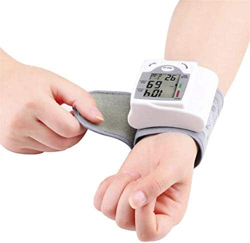 Blood Pressure Monitor Wrist Accurately Detects Blood Pressure Heart Rate and Irregular Heartbeat, Large LCD Display (White)