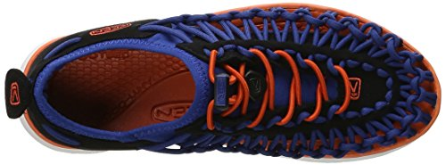Keen Uneek O2 C, Sandalias Unisex Niños, Dress Blues/Very Berry blue-orange