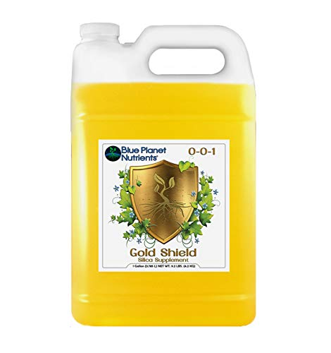 - Gold Shield Plant Supplement Gallon (128 oz) Silica Blue Planet Nutrients | Hydroponic Aeroponic Soil Coco Coir | Strengthen Plants & Resist Garden Pests | for Heavy Fruit & Flowers