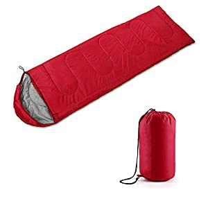 MultiWare Camping Seeping Bags 3-4 Season Sleeping Bag Red