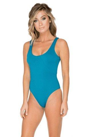 Rose Aerin Swimsuit (Aerin Rose Blue Malachite Dusk One Piece, 10)