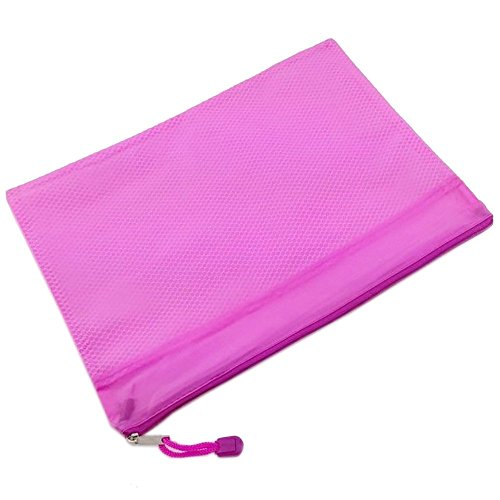 Nice 1 PC OAIMYY A5 Double Layer Zippered Mesh Waterproof Office File Organizer/Document Holder/Paper Pouch/Pen Pencil Case/Stationery Storage Bags--Rose supplier