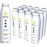 UPTIME – Premium Energy Drink, White Peach Lemonade – Sugar Free, 12 Pack, 12oz Bottles, Natural Caffeine, Sparkling, 5 Calories, Natural Flavors