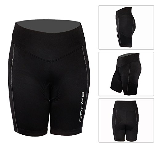 Ali Huang(TM) Outdoor Women Mountain Bike Bicycle Shorts Cycling Pad Silicone Underwear Pants Black (Small) by Ali Huang(TM)