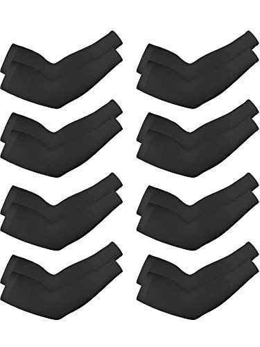 8 Pairs Unisex Arm Sleeves UV Sun Protection Cooling Sleeves for Driving Jogging Golfing Riding Outdoor Activities (Style 18)