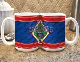 Rangers Mug Coffee (MLB Texas Rangers 15oz. Sublimated Logo Mug)