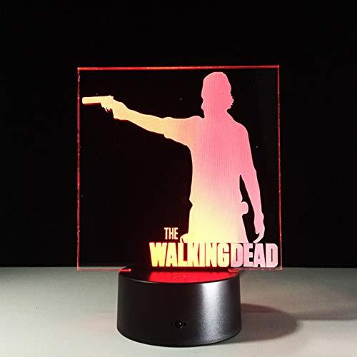 DDBBhome Die Walking Dead 3D Dekor Nachtlicht LED 7 Farben /Ändern Schreibtischlampe 3D Neuheit Nachtlicht F/ür Kinder Geschenke